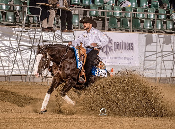 GD Peptos Olena Blue and Midili L4 Open Futurity Champions 4-years-old
